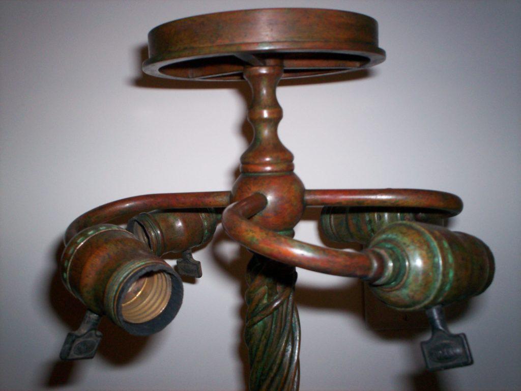 Top of Tiffany Vine Lamp